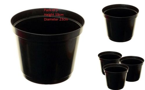Strong Plastic Pack Of 5 23cm Tomato Ring Pot Planter Bottomless Growbag