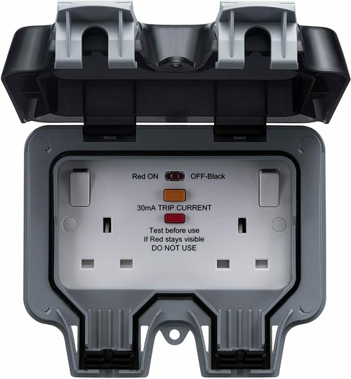 Masterplug 13a 2 Gang Storm Weatherproof Outdoor Rcd
