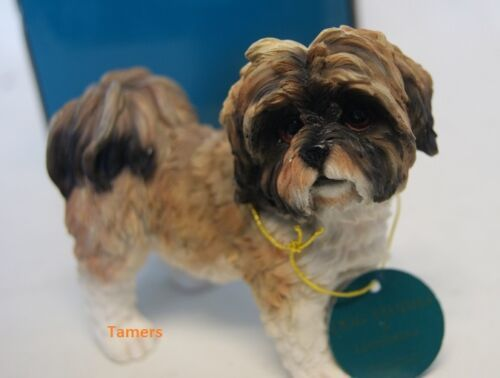 White And Brown Shih Tzu Statue By Leonardo Collection