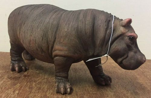 Small Standing Hippo Statue BNIB Hippopotamus Ornament Figurine by Naturecraft