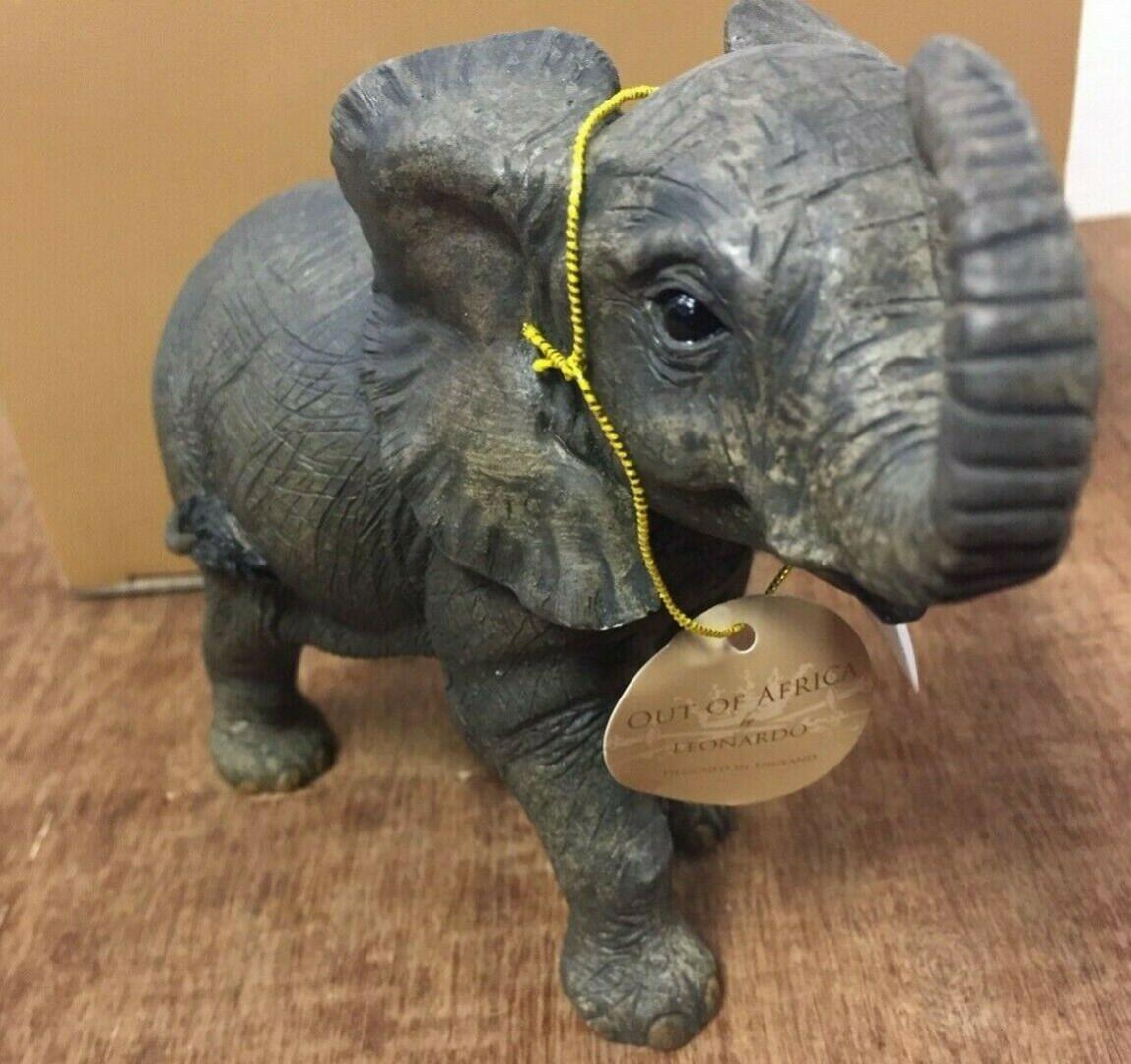 African Elephant Mother /& Calf Figurine Resin Wild Animal Ornament Gift 13cm