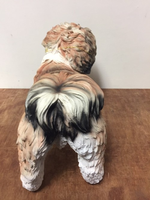 Brown Shih Tzu Standing Resin Dog Ornament//Figurine By Leonardo Collection